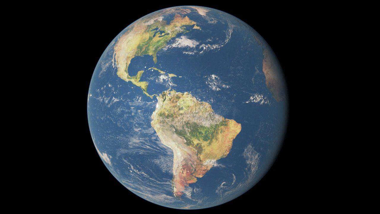 Billede af jordkloden