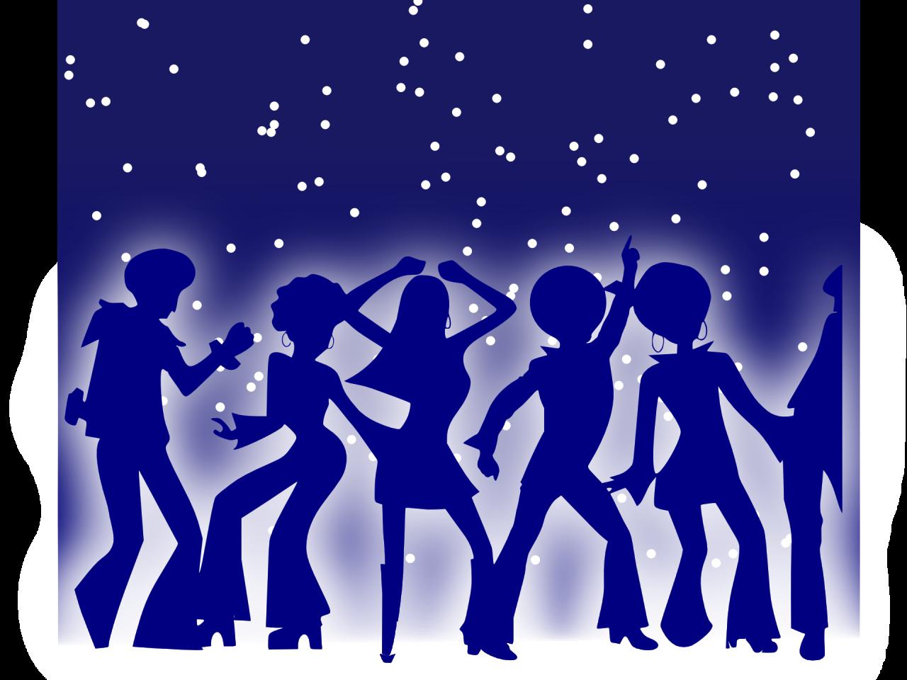Grafisk billede af mennesker, der fester