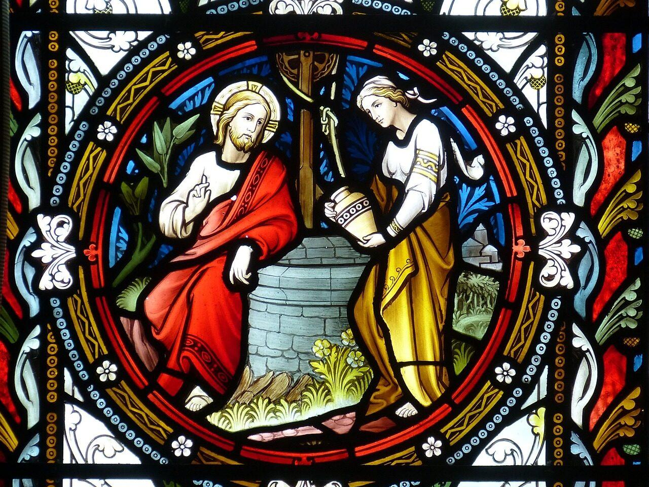Glasmosaik fra en kirke