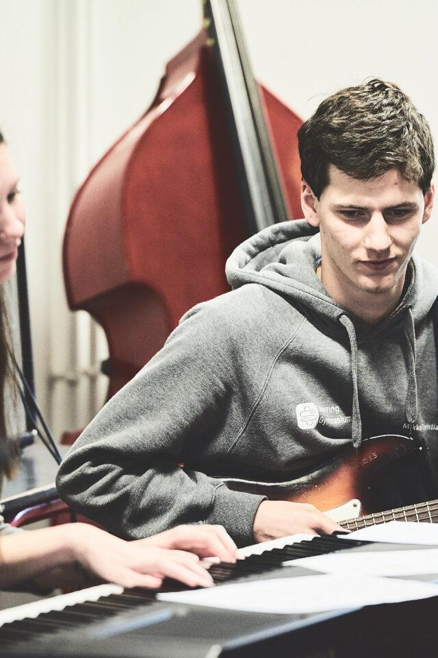 Musikelever øver