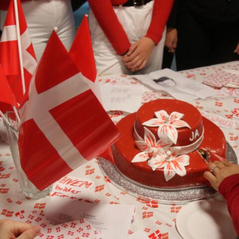 Kage fra skolens fødselsdag