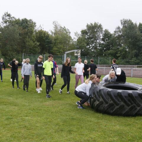 En klasse skubber dæk